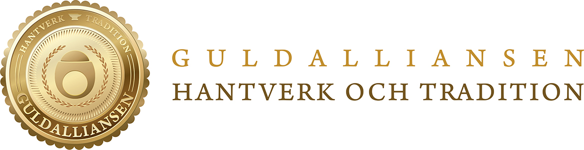 Guldalliansen Logotype -Seal and text-horizontal